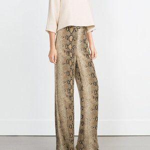 Zara Snakeskin Trouser NWT Size S